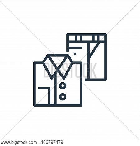 clothing icon isolated on white background from recycling collection. clothing icon thin line outlin