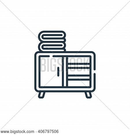closet icon isolated on white background from bathroom collection. closet icon thin line outline lin