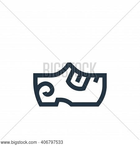 clogs icon isolated on white background from holland collection. clogs icon thin line outline linear