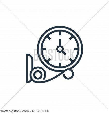 clock icon isolated on white background from railway collection. clock icon thin line outline linear