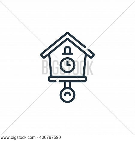 clock icon isolated on white background from calendar and date collection. clock icon thin line outl