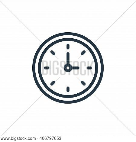 clock icon isolated on white background from school collection. clock icon thin line outline linear