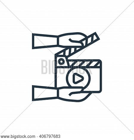 clipper icon isolated on white background from cinema collection. clipper icon thin line outline lin