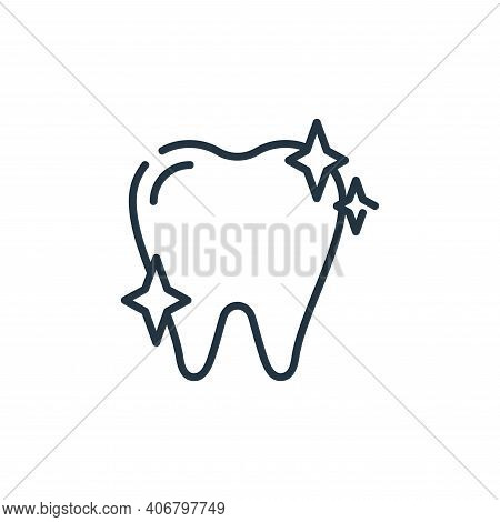 clean icon isolated on white background from dental care collection. clean icon thin line outline li