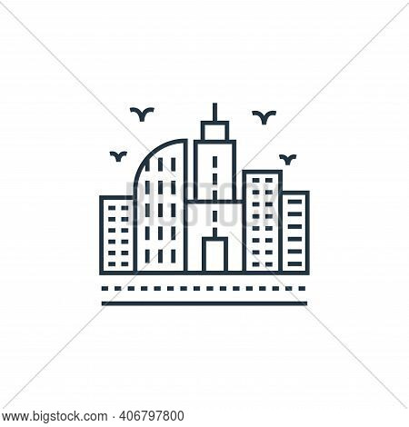 cityscape icon isolated on white background from environment and eco collection. cityscape icon thin