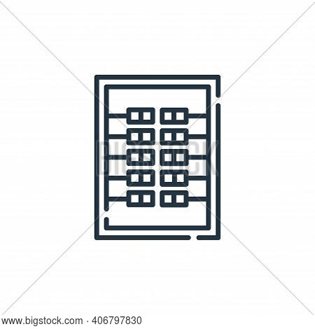 circuit icon isolated on white background from electrician tools and elements collection. circuit ic