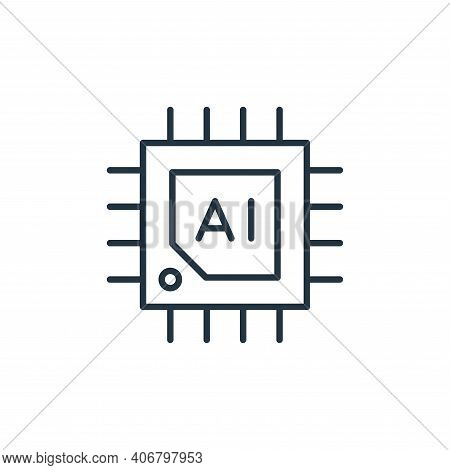 chip icon isolated on white background from robotics collection. chip icon thin line outline linear