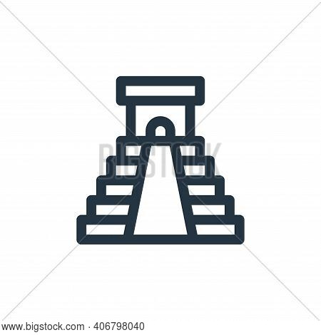 chichen itza pyramid icon isolated on white background from mexico collection. chichen itza pyramid