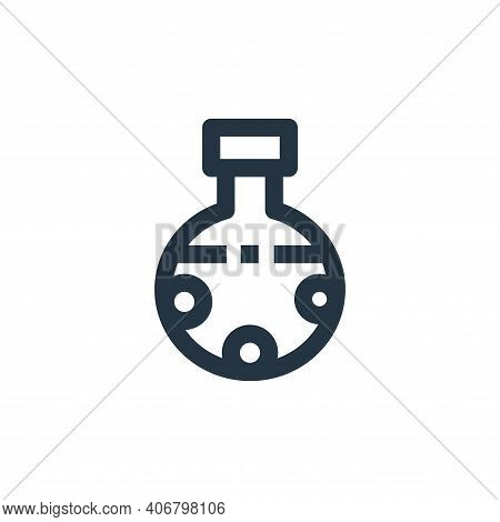 chemical icon isolated on white background from medical collection. chemical icon thin line outline
