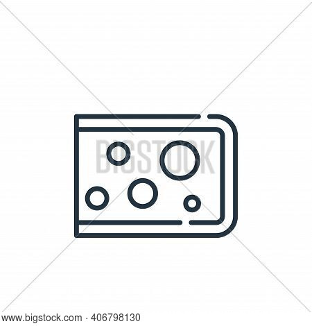 cheese icon isolated on white background from allergies collection. cheese icon thin line outline li