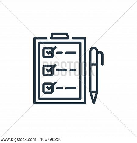 checklist icon isolated on white background from ecommerce collection. checklist icon thin line outl