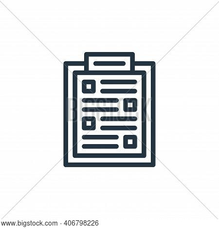 checklist icon isolated on white background from miscellaneous collection. checklist icon thin line