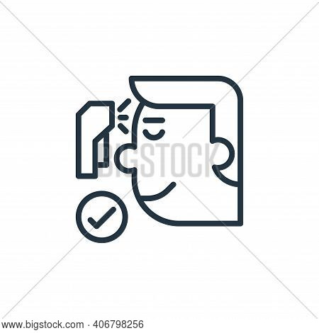 check icon isolated on white background from pandemic collection. check icon thin line outline linea