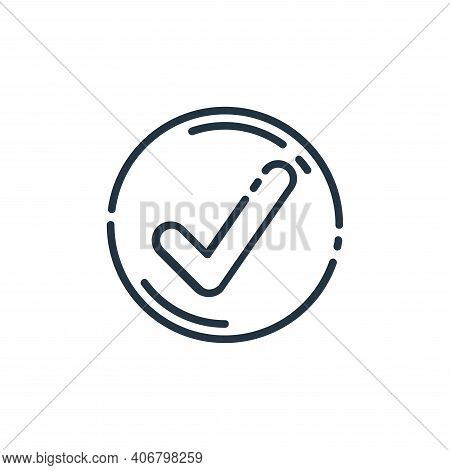 check icon isolated on white background from user interface collection. check icon thin line outline