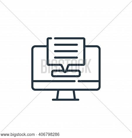 chat box icon isolated on white background from telecommuting collection. chat box icon thin line ou