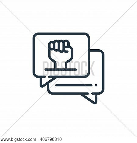 chat icon isolated on white background from womens day collection. chat icon thin line outline linea