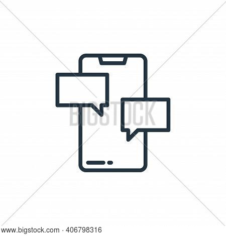 chat icon isolated on white background from stay at home collection. chat icon thin line outline lin