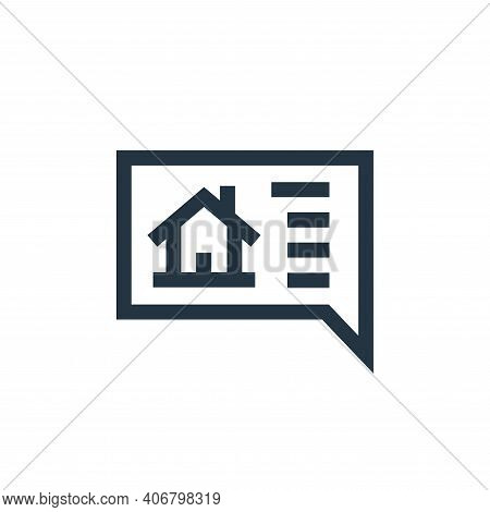 chat icon isolated on white background from real estate collection. chat icon thin line outline line
