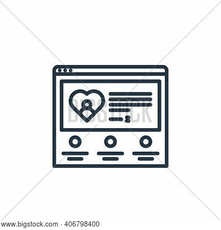 charity icon isolated on white background from charity collection. charity icon thin line outline li