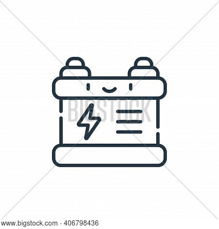charging battery icon isolated on white background from electrician tools and elements collection. c