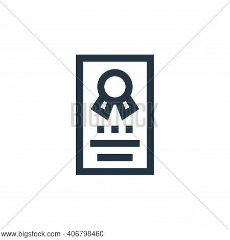 certification icon isolated on white background from job resume collection. certification icon thin