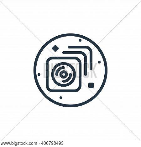 cds icon isolated on white background from music and sound collection. cds icon thin line outline li