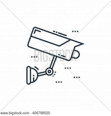 cctv camera icon isolated on white background from technology devices collection. cctv camera icon t