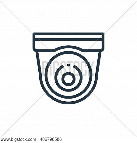 cctv icon isolated on white background from taxi service collection. cctv icon thin line outline lin