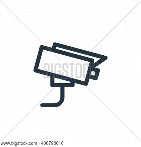 cctv icon isolated on white background from electronics collection. cctv icon thin line outline line