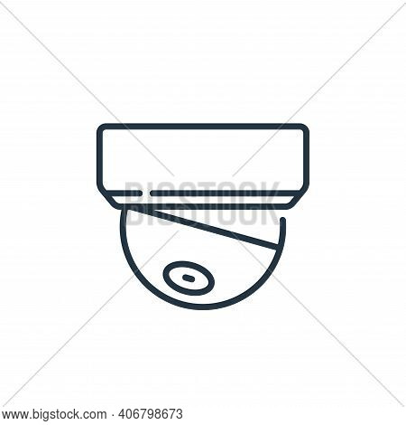 cctv icon isolated on white background from mall collection. cctv icon thin line outline linear cctv