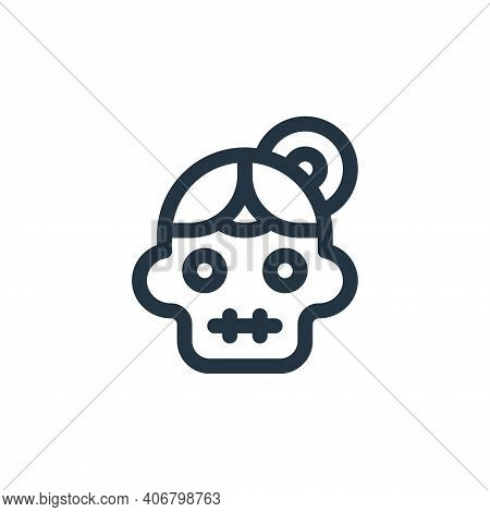 catrina icon isolated on white background from mexico collection. catrina icon thin line outline lin