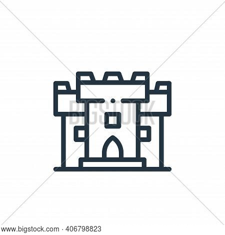 castle icon isolated on white background from videogame elements collection. castle icon thin line o