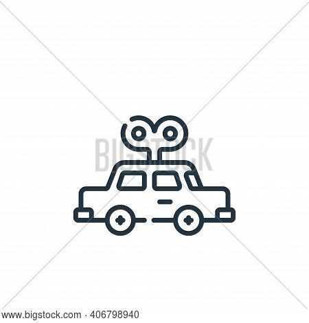 car toy icon isolated on white background from plastic products collection. car toy icon thin line o