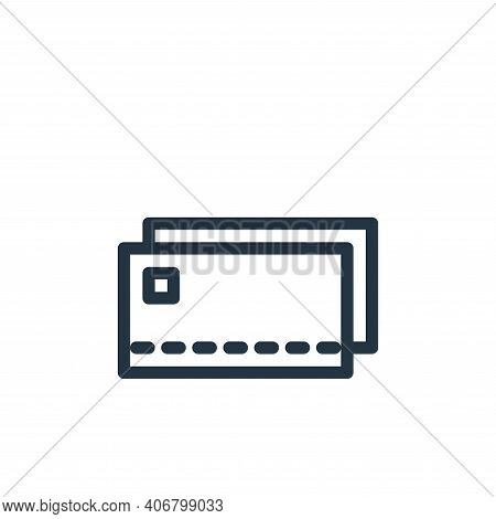 card payment icon isolated on white background from holiday collection. card payment icon thin line