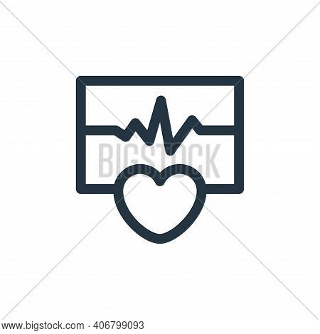 cardiogram icon isolated on white background from health collection. cardiogram icon thin line outli