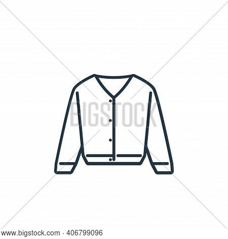 cardigan icon isolated on white background from clothes and outfit collection. cardigan icon thin li