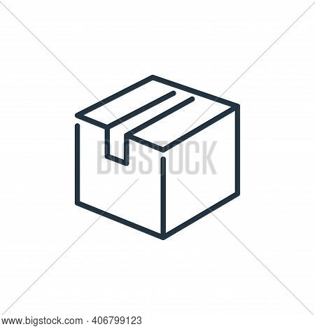 cardboard box icon isolated on white background from ecommerce collection. cardboard box icon thin l