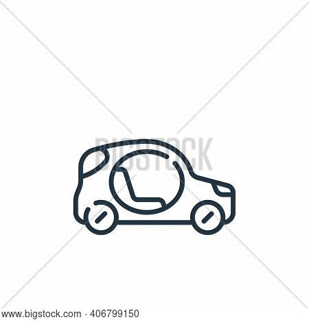 car icon isolated on white background from technology of the future collection. car icon thin line o