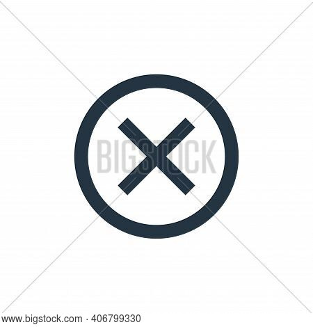 cancel icon isolated on white background from user interface collection. cancel icon thin line outli