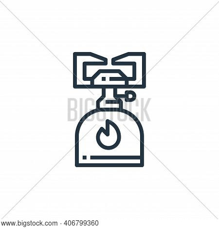 camping gas icon isolated on white background from camping collection. camping gas icon thin line ou