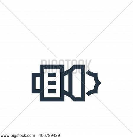 camera icon isolated on white background from news collection. camera icon thin line outline linear