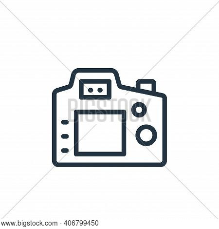 camera icon isolated on white background from photography collection. camera icon thin line outline