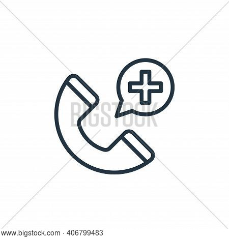 call center icon isolated on white background from virus collection. call center icon thin line outl