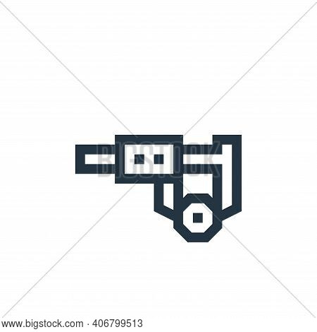 caliper icon isolated on white background from manufacturing collection. caliper icon thin line outl