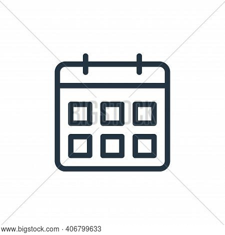 calendar icon isolated on white background from online learning collection. calendar icon thin line
