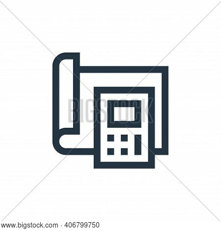calculator icon isolated on white background from manufacturing collection. calculator icon thin lin
