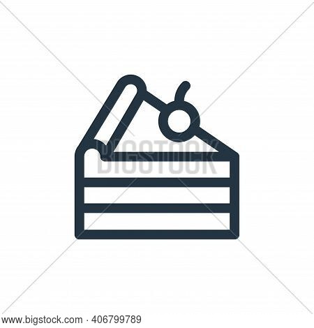 cake piece icon isolated on white background from gastronomy collection. cake piece icon thin line o