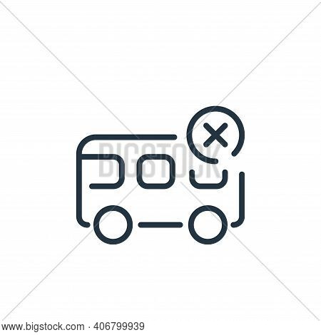 bus icon isolated on white background from coronavirus collection. bus icon thin line outline linear