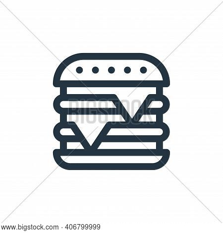 burger icon isolated on white background from gastronomy collection. burger icon thin line outline l