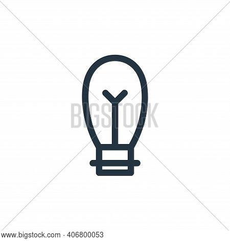bulb icon isolated on white background from electronics collection. bulb icon thin line outline line